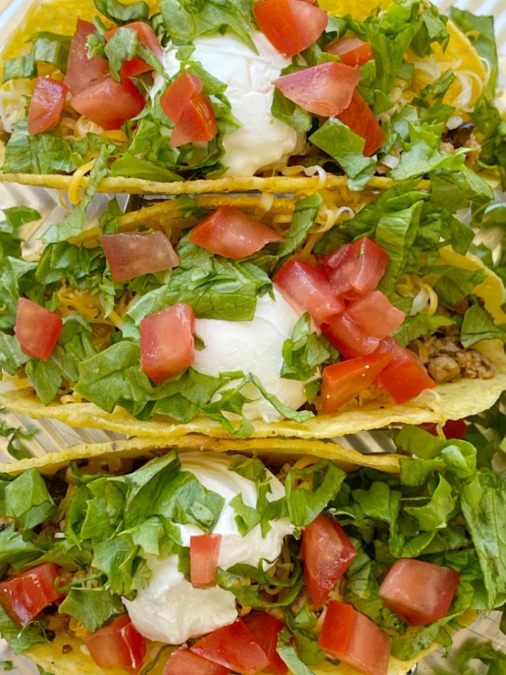 Green Chili Turkey Tacos Together As Family