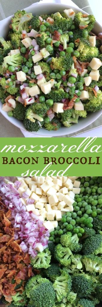 Mozzarella Bacon Broccoli Salad | Together as Family