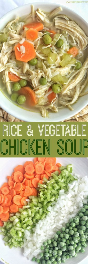 Rice & Vegetable Chicken Soup | Together as Family