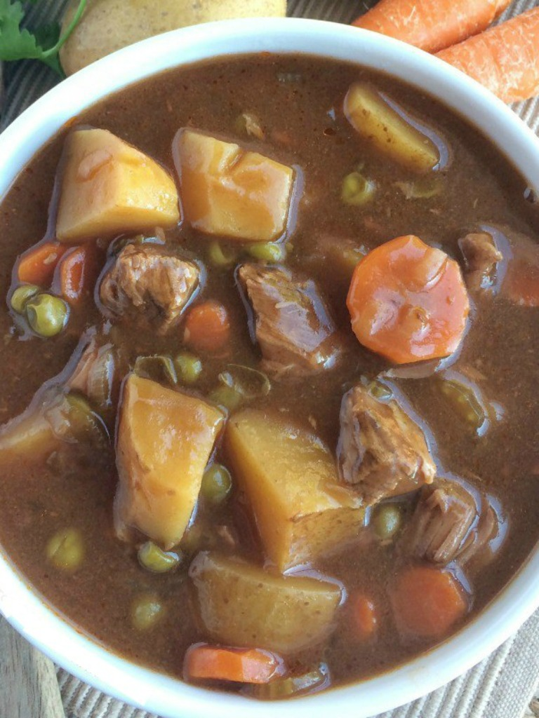 Slow Cooker Apple Cider Beef Stew is a delicious dinner recipe that is perfect for Fall   www.togetherasfamily.com