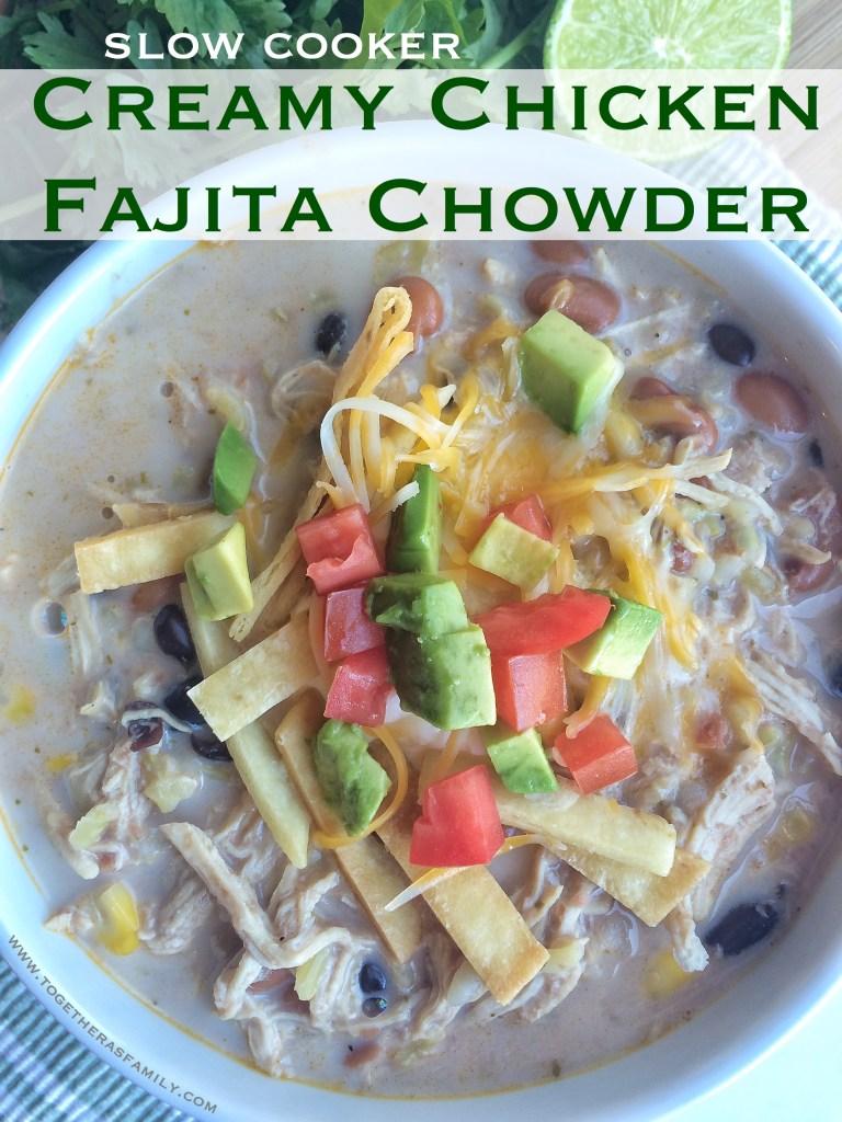 Slow Cooker Creamy Chicken Fajita Chowder