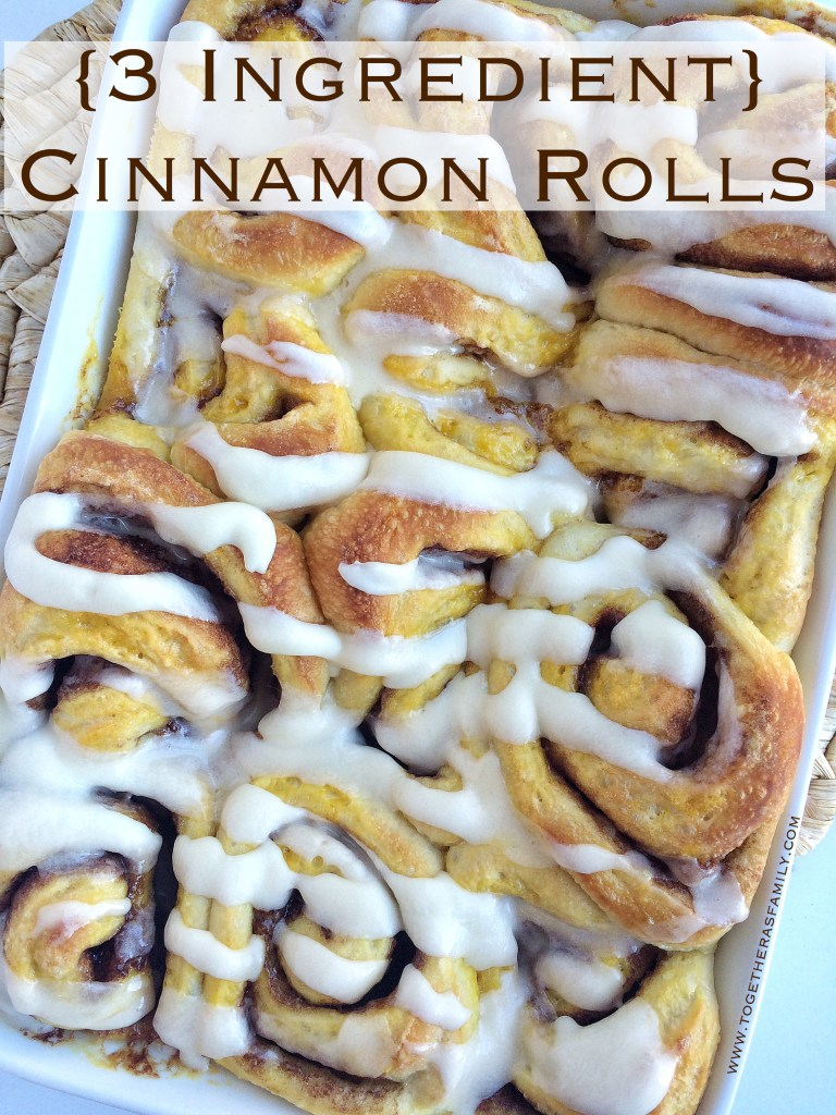 3 Ingredient Cinnamon Rolls