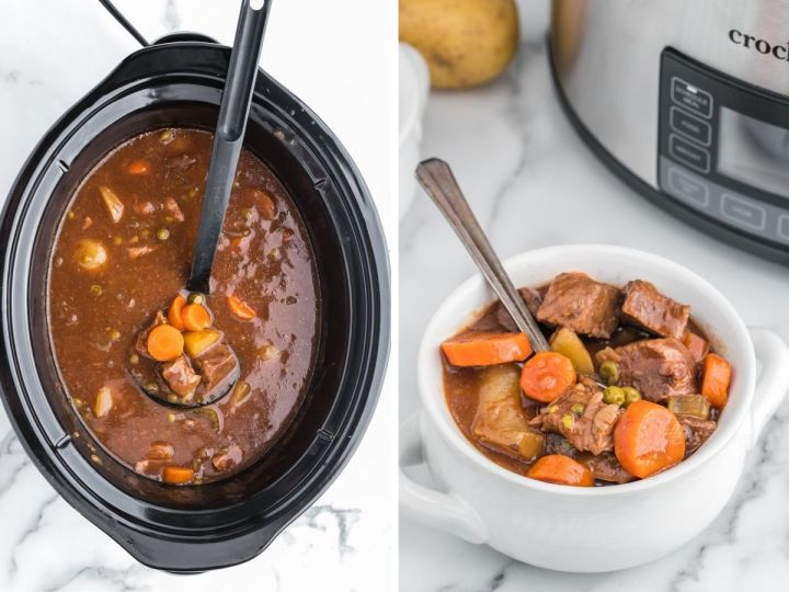 How to make beef stew with apple cider.