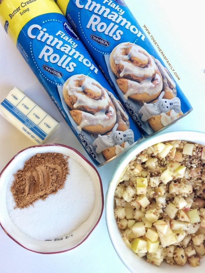Cinnamon Roll Apple Monkey Bread