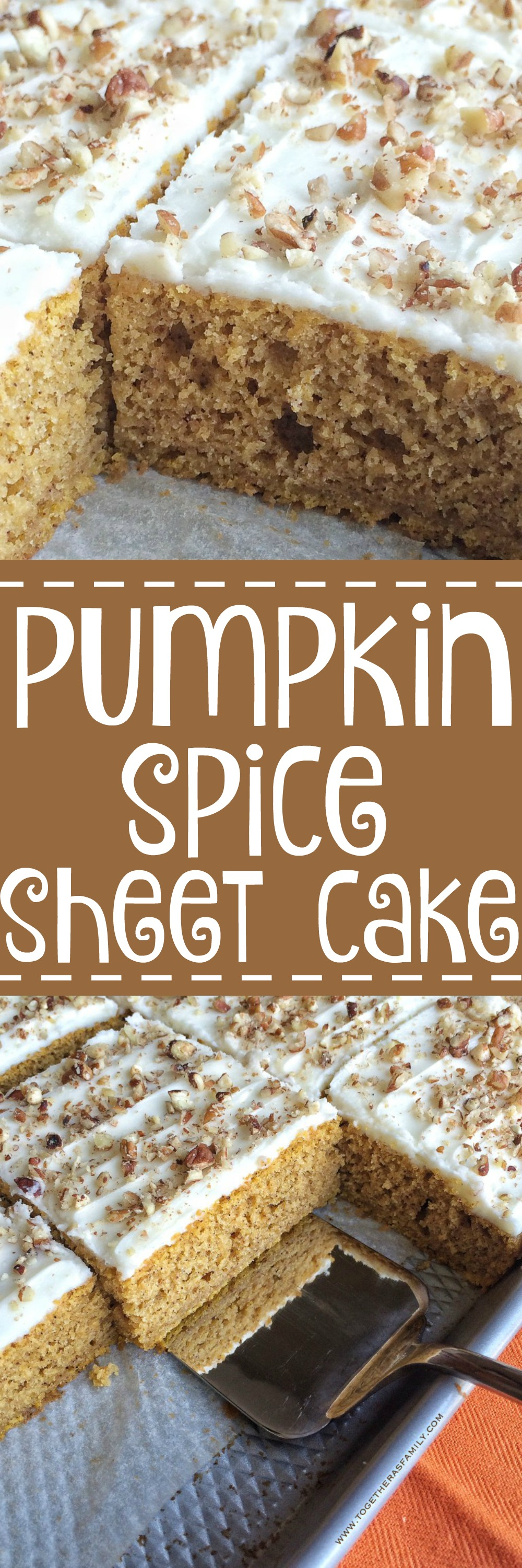 Pumpkin Cake With Cream Cheese Frosting And Pecans