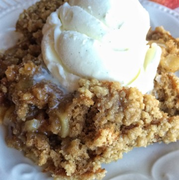 Soft, moist apple cake with an apple cider pudding at the bottom. Serve with vanilla ice cream and watch it disappear. This cake is so yummy! Find out more at Together as Family.
