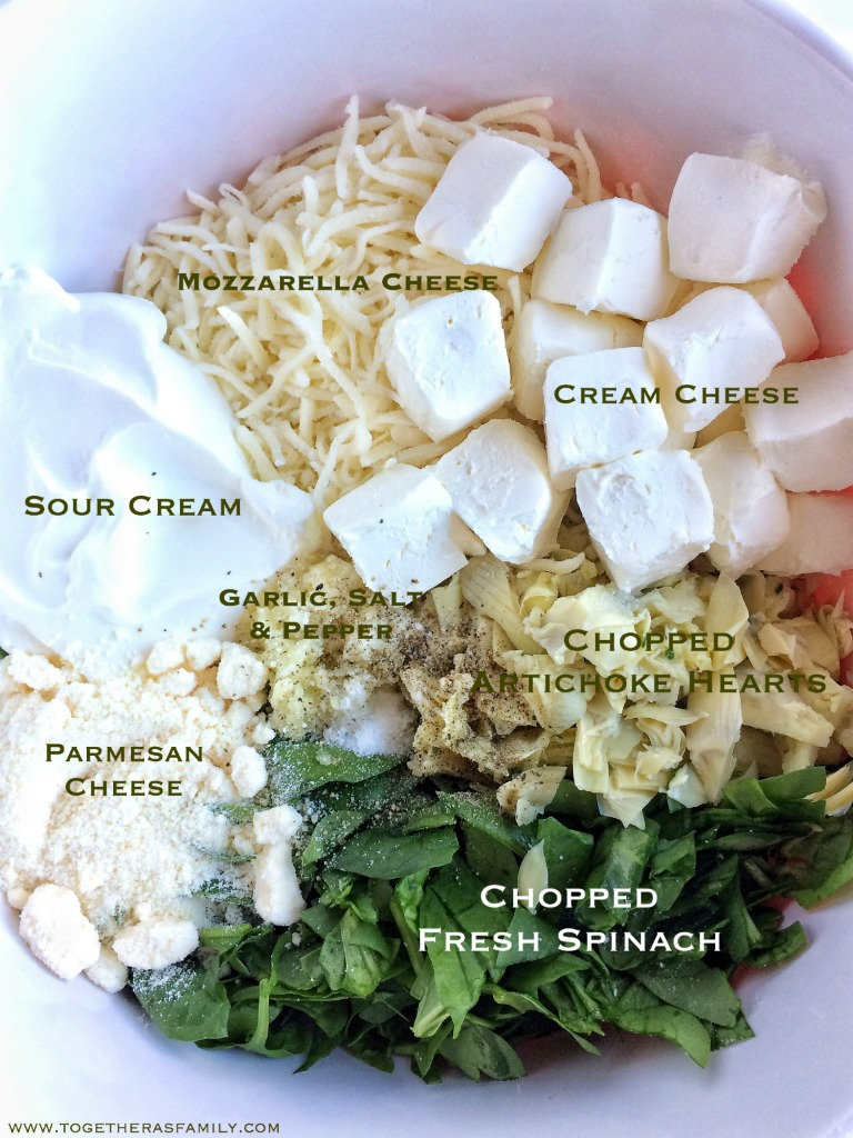Slow Cooker Cheesy Spinach Artichoke Dip