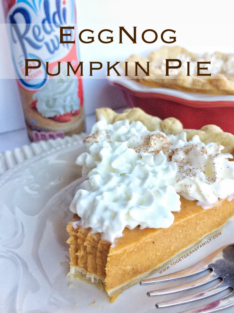 Celebrate this Holiday season with this easy, no bake eggnog pumpkin pie!