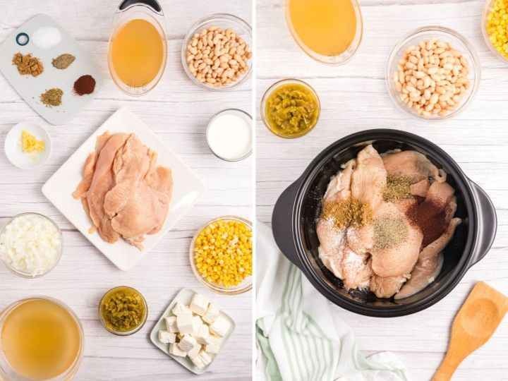 How to make white chicken chili with pictures for step-by-step instructions.