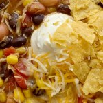7 Can Chicken Taco Soup | 7 Can Soup Recipe | Soup Recipe | Dinner does not get any easier than this 7 can chicken taco soup! Dump 7 cans into a pot plus some seasonings and that's it! Serve with tortilla chips, cheese, and sour cream. You won't believe how yummy & easy it is.