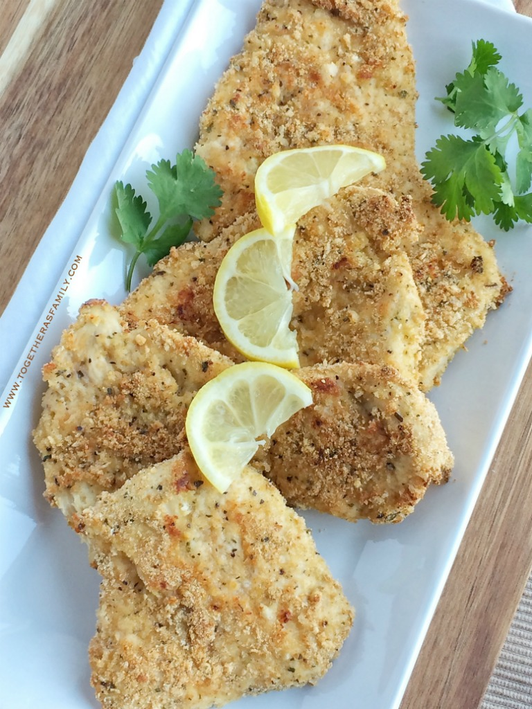 Crispy baked lemon parmesan chicken is a healthy, perfectly flavored dinner that uses simple and easy pantry ingredients.