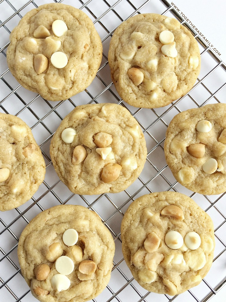 White Chocolate Macadamia Nut Pudding Cookies - Together as Family
