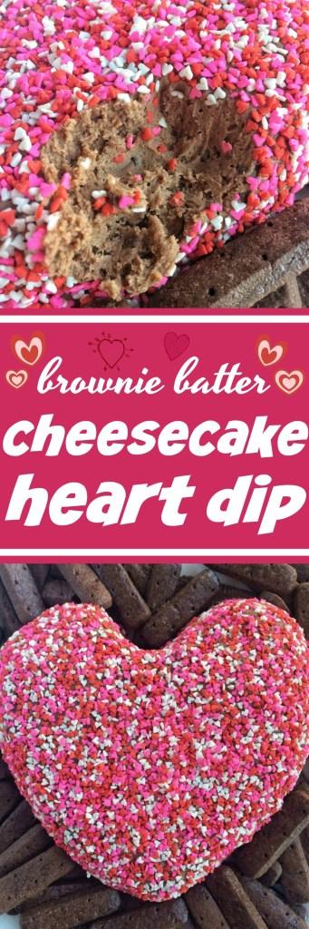 Brownie Batter Cheesecake Heart Dip | Valentine's Day Recipes | Brownie Batter Recipes | Valentine's Day Desserts | Cheesecake Dip | Heart Desserts | Together as Family #valentinesrecipes #valentinesdaydesserts
