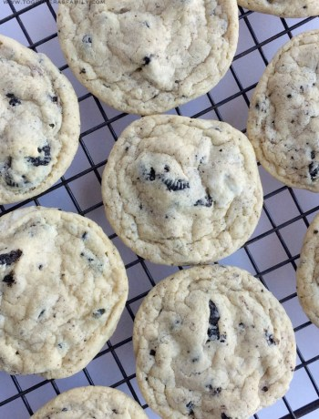 Oreo cookies & cream pudding cookies are thick, super soft thanks to the pudding mix in the dough, and totally addictive! Cookies n cream chocolate candy bars, Oreo pudding mix, and Oreo cookies are all in these cookies. If you're a fan of Oreos and cookies & cream then you will love these!
