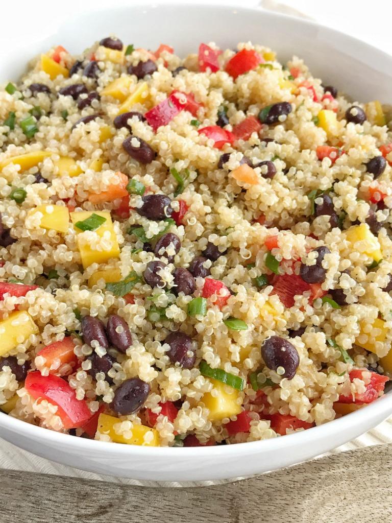 Mango Black Bean Quinoa Salad - Together as Family