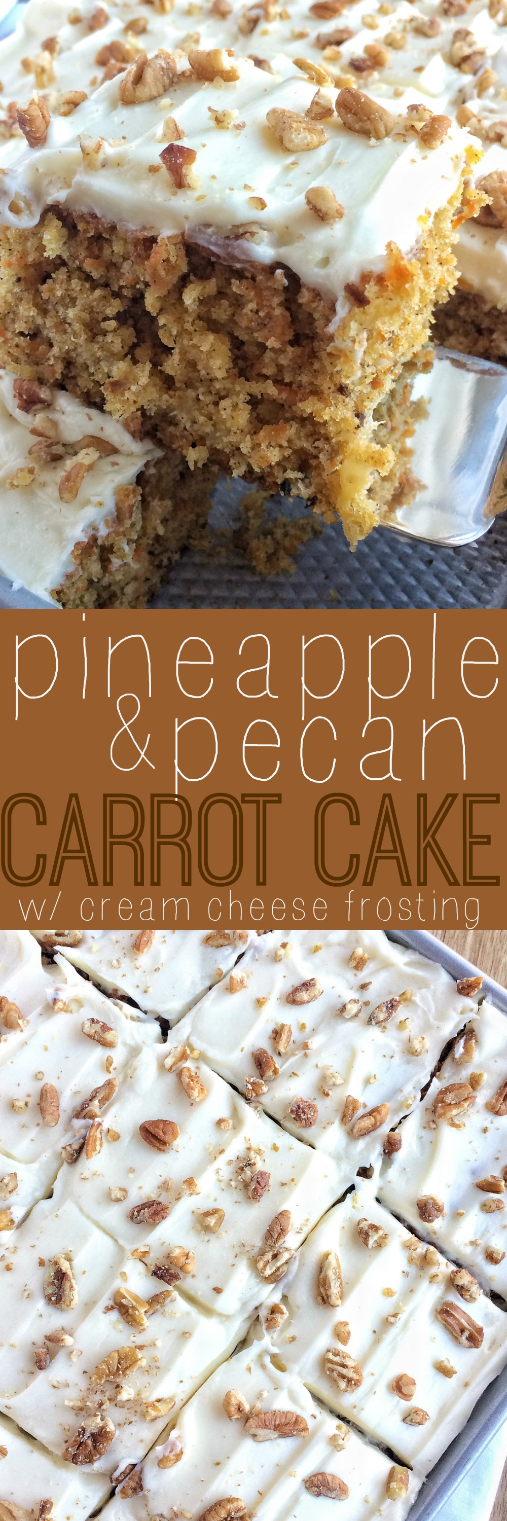 Pineapple Pecan Carrot Cake   Together as Family Save this recipe for later and PIN IT to PINTEREST  This pineapple pecan carrot  cake