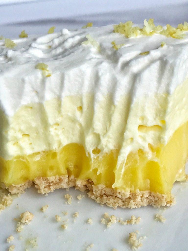 No Bake Triple Layer Lemon Pudding Pie Together As Family