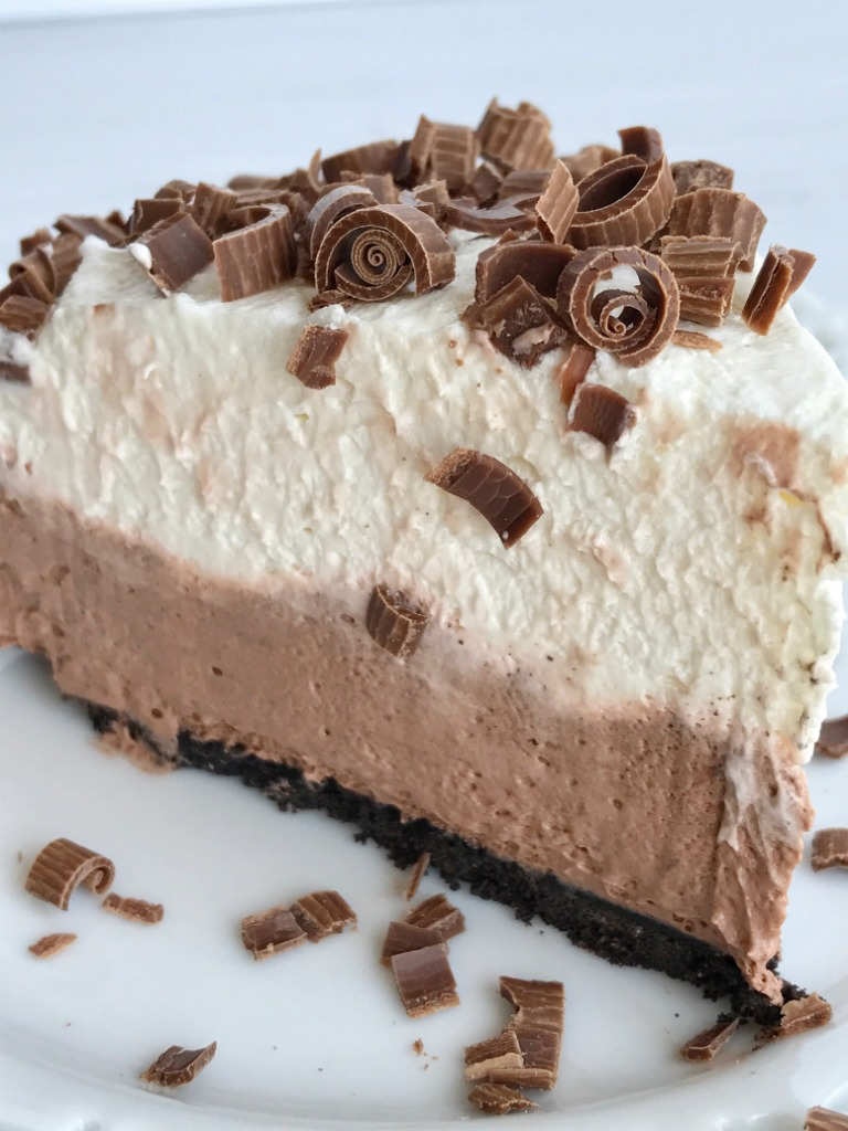 {no bake} double chocolate cream pie - Together as Family