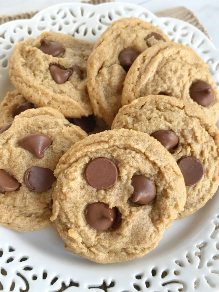 No Flour Peanut Butter Chocolate Chip Cookies Together As Family