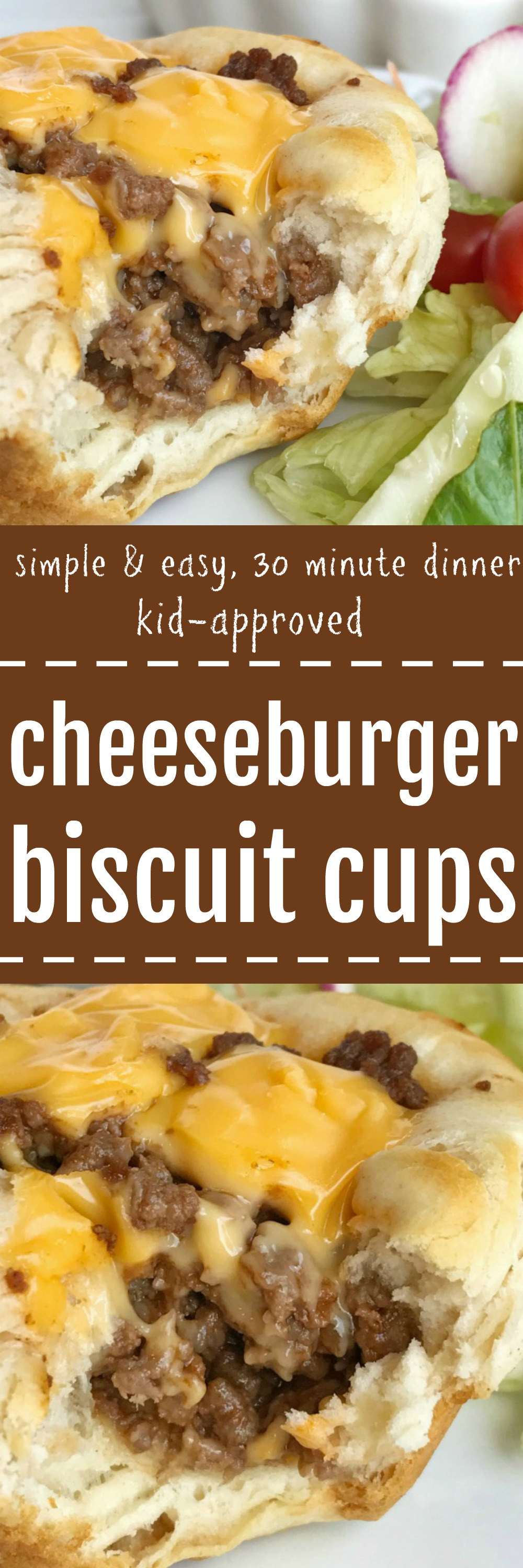 Cheeseburger Biscuit Cups Together As Family