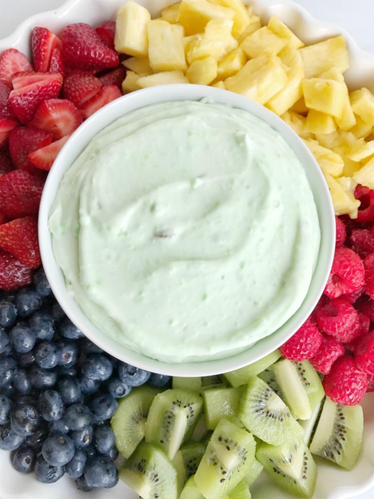 Pistachio Yogurt Fruit Dip - Together as Family