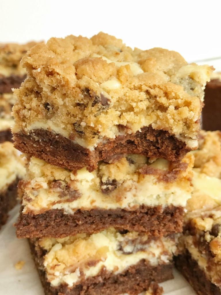 Awesome Cookies Cream Brownie Cheesecake Bars Recipe