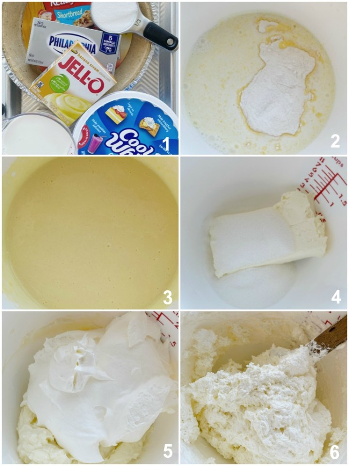 How to make no bake banana cream pie with step-by-step picture instructions.