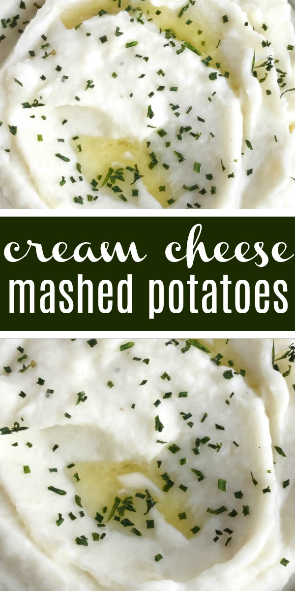 Perfect Cream Cheese Mashed Potatoes | Mashed Potato Recipe | Best Mashed Potatoes | Thanksgiving Side Dish | The best mashed potatoes recipe! Only a few simple ingredients for creamy and smooth mashed potatoes that are full of flavor. The cream cheese makes these mashed potatoes so creamy. A great side dish for Thanksgiving, dinner, or any special Holiday dinner. #sidedish #mashedpotatoes #thanksgivingrecipe #thanksgiving #thanksgivingsidedish #potatoes #creamcheese