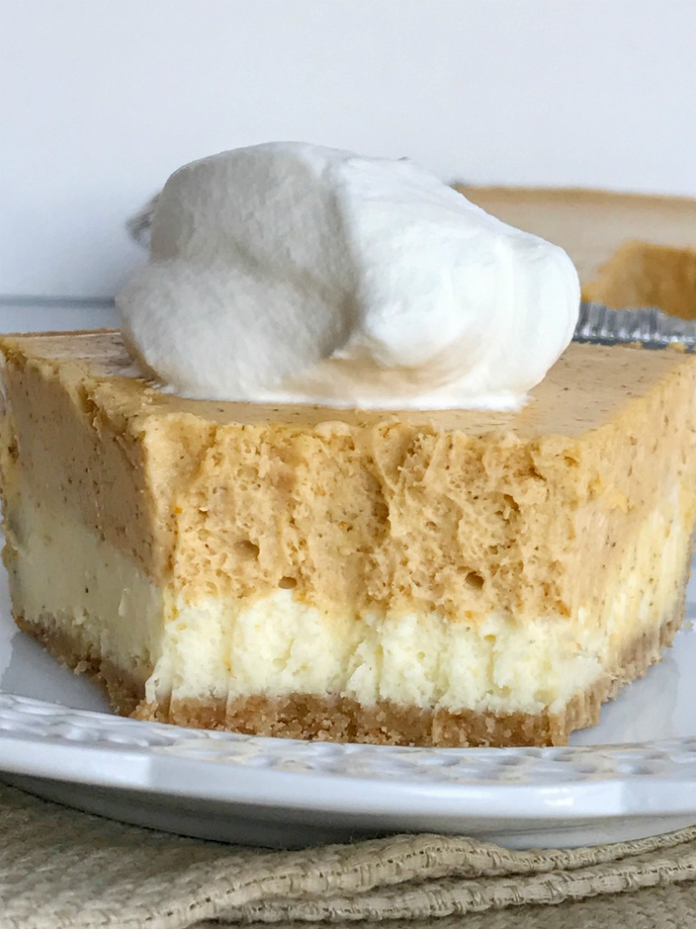 Double Layer Pumpkin Cheesecake Pie - Together as Family