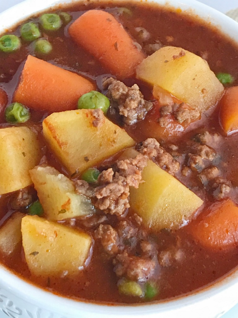 Slow cooker hearty ground beef stew together as family for What can you cook with ground beef