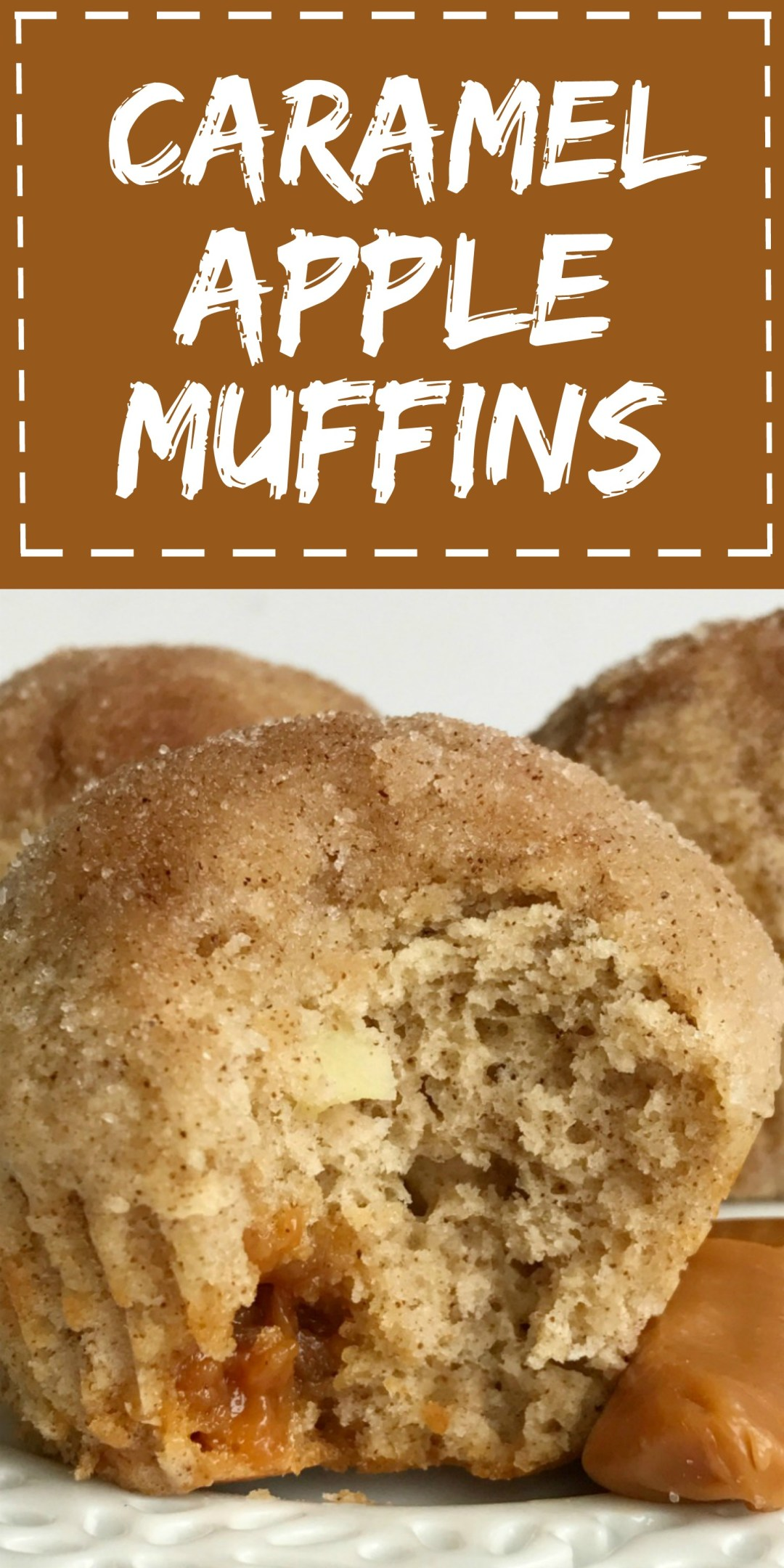 Caramel Apple Muffins | Caramel Apple | Muffin Recipe | Caramel apple muffins are bursting with warm cinnamon & sugar, chunks of apple, and caramel pieces. They bake up perfectly round like a bakery! These muffins are a fun twist to the classic caramel apple. #muffins #muffinrecipe #caramelapple #snack #easyrecipe #recipeoftheday