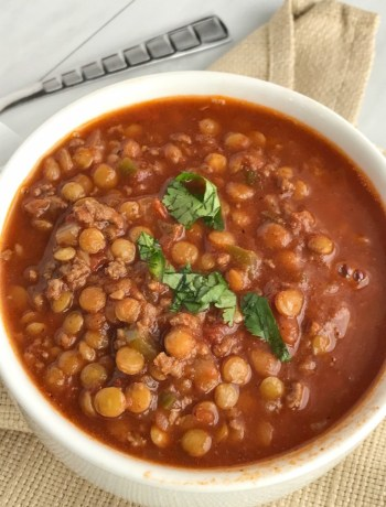 Lentil Chili | Chili | Chili Recipes | Soup | Comfort Food | Soup Recipes | www.togetherasfamily.com #chilirecipes #lentilrecipes #chili #soup #souprecipes