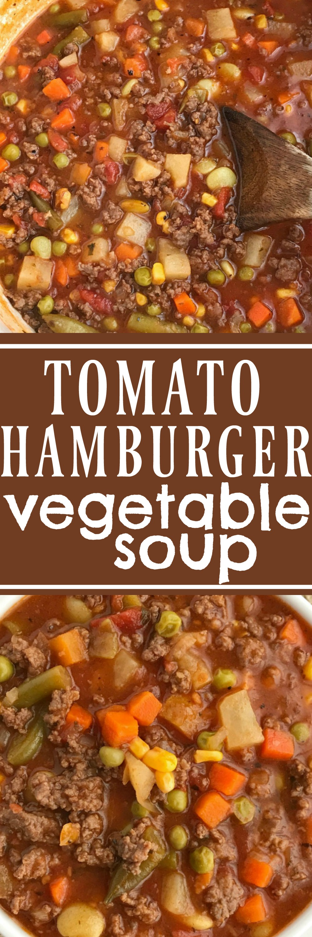 Tomato Hamburger Vegetable Soup Together As Family