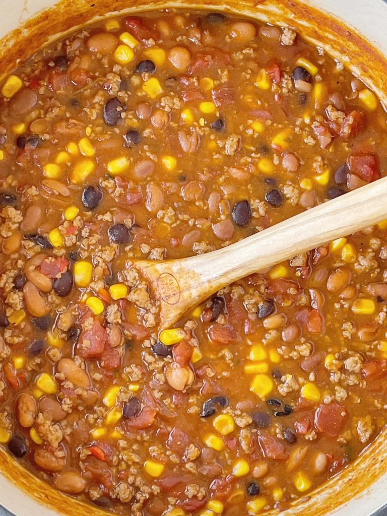 Turkey Chili Taco Soup Recipe
