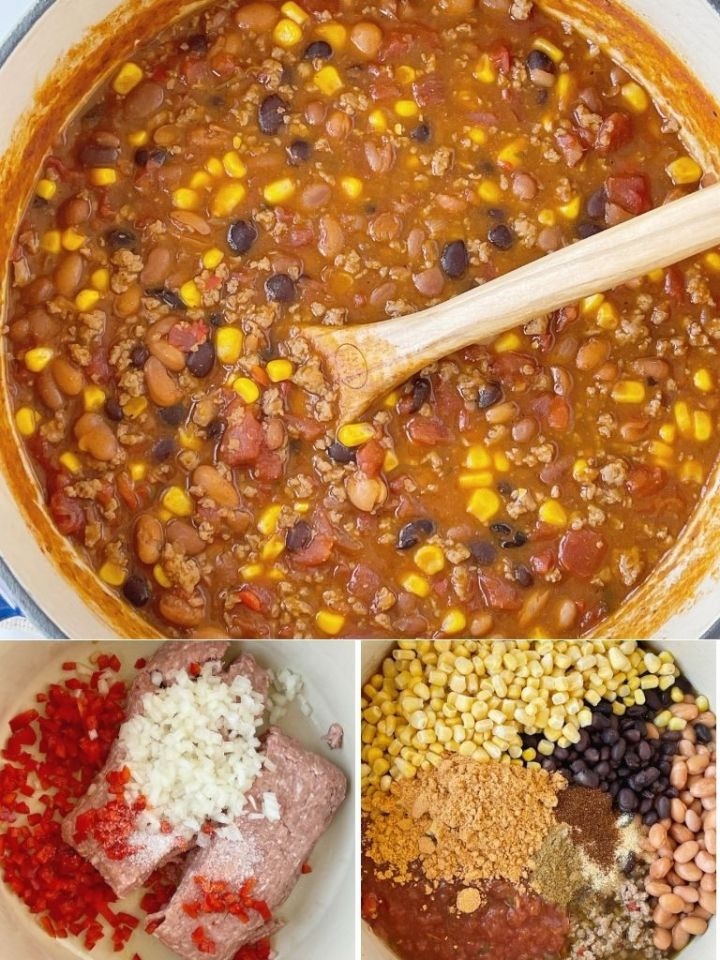 How to make turkey chili taco soup with step-by-step photo directions.