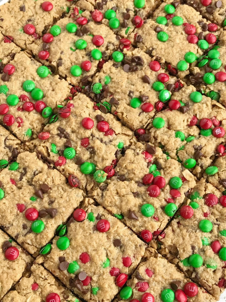 No Flour Christmas Cookie Bars - Together as Family