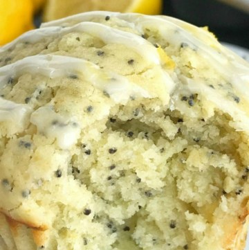 Coconut Lemon Poppyseed Muffins | Poppyseed Muffins | Lemon Recipes | Muffin Recipes | Coconut Lemon Poppyseed Muffins are a must make for springtime & summer. Coconut and lemon combine in a soft & moist poppyseed muffin with a lemon glaze on top. These muffins are filled with coconut oil, coconut extract, fresh lemon zest & fresh lemon juice. #muffinrecipes #lemonrecipes #muffins #coconutrecipes #coconutoilrecipe #recipeoftheday