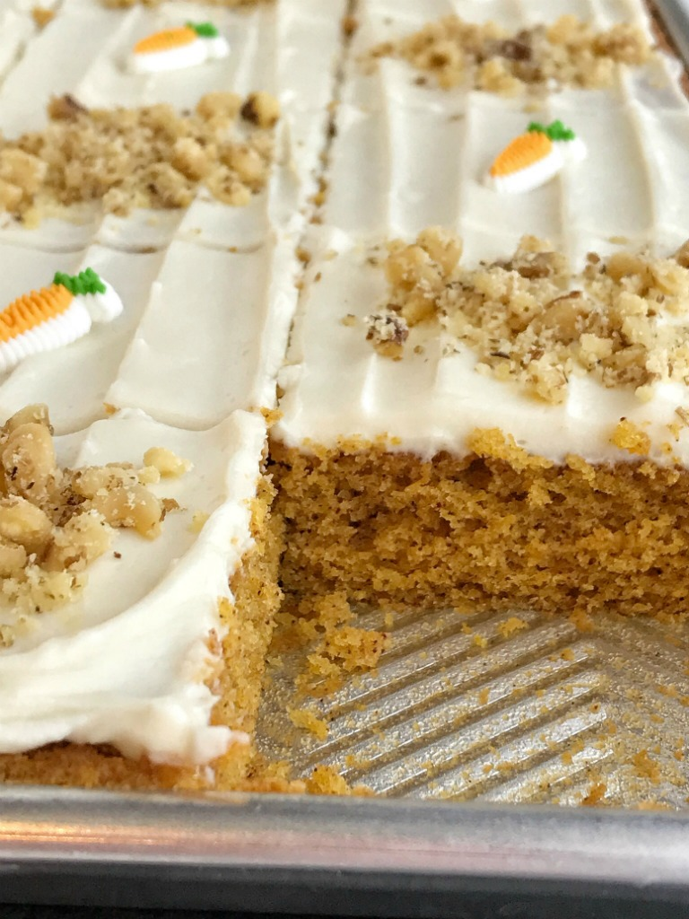 Baby Food Carrot Sheet Cake