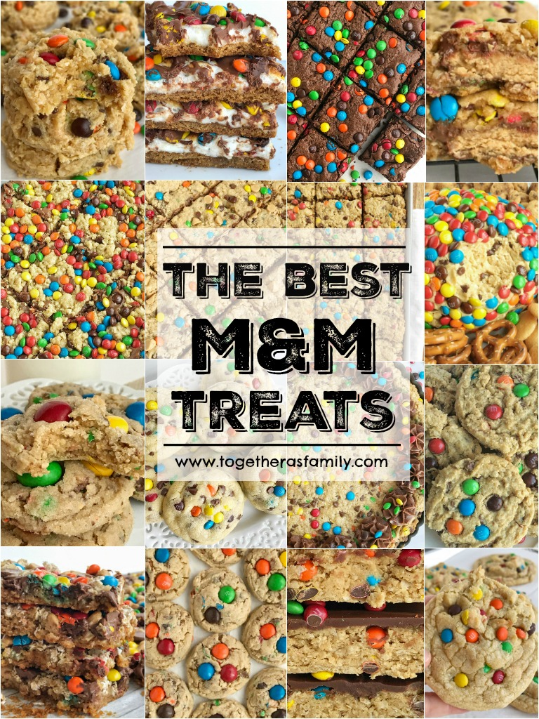 The Best Must Make M&M Treats   The best M&M treat recipes that you must make! Cookies, dessert, brownies, and bar recipes! Colorful candies make any treat better and I've collected all of our favorites in one place. Be sure and buy some m&m's so you can whip up one (or several) of these colorful and tasty treats.