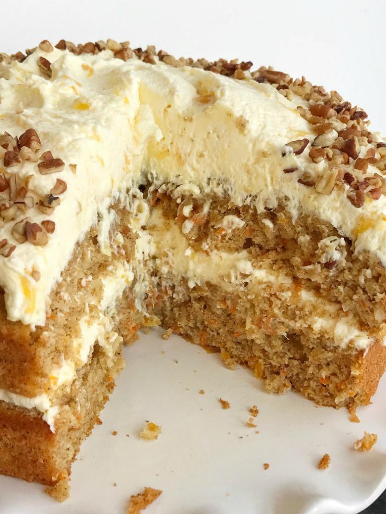 Light Fluffy Carrot Cake Recipe