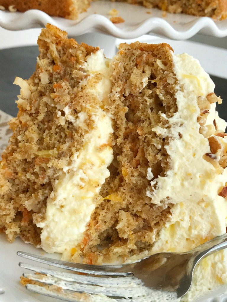 Cooks Carrot Cake With A Mix