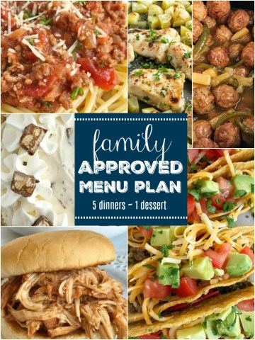 Meal Plan | Menu Planning | Family menu plan that your entire family will love! Easy, family approved, simple ingredients, and delicious food to enjoy together. All these recipes are tried & true and been tested many times over again in my own kitchen. Happy cooking from my kitchen to yours