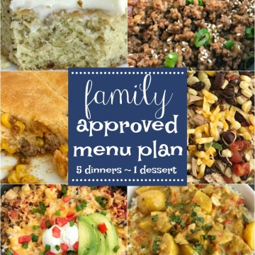 Family Approved Menu Plan | Menu Planning | Meal Plan | Meal Prep |