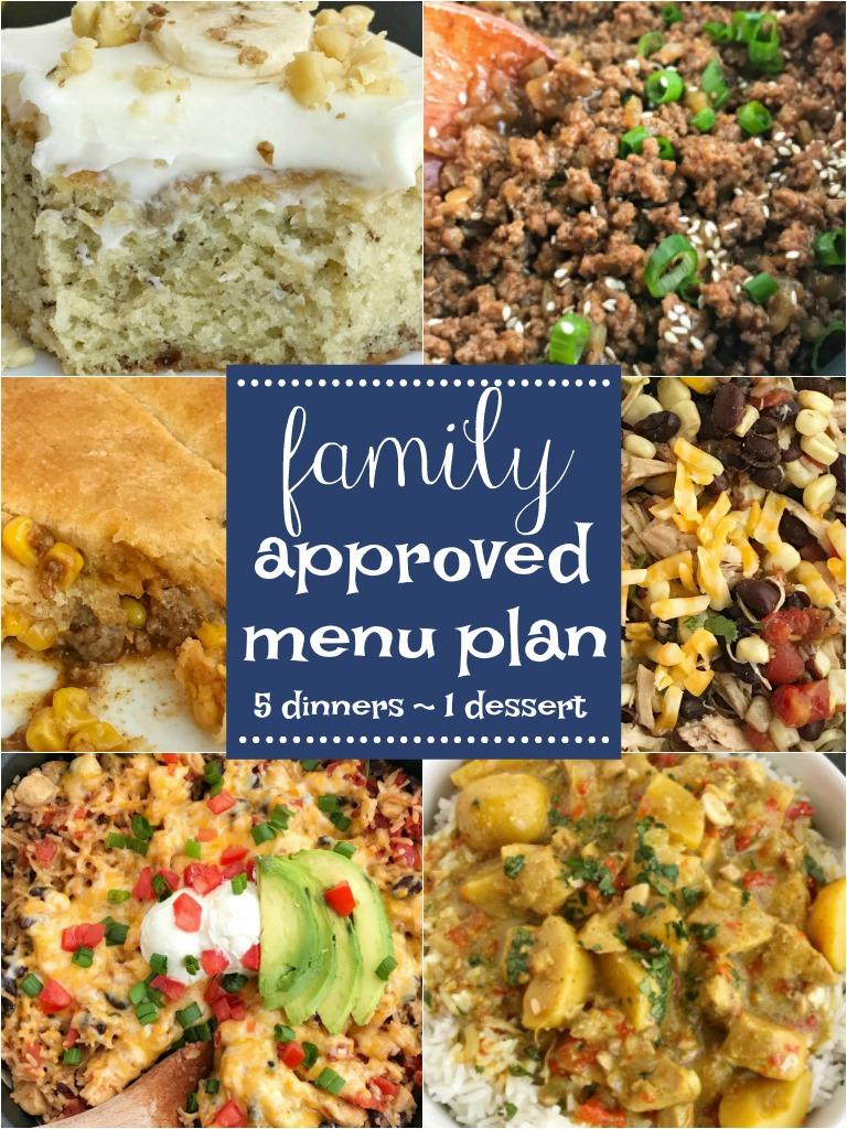 Family Approved Menu Plan | Menu Planning | Meal Plan | Meal Prep |