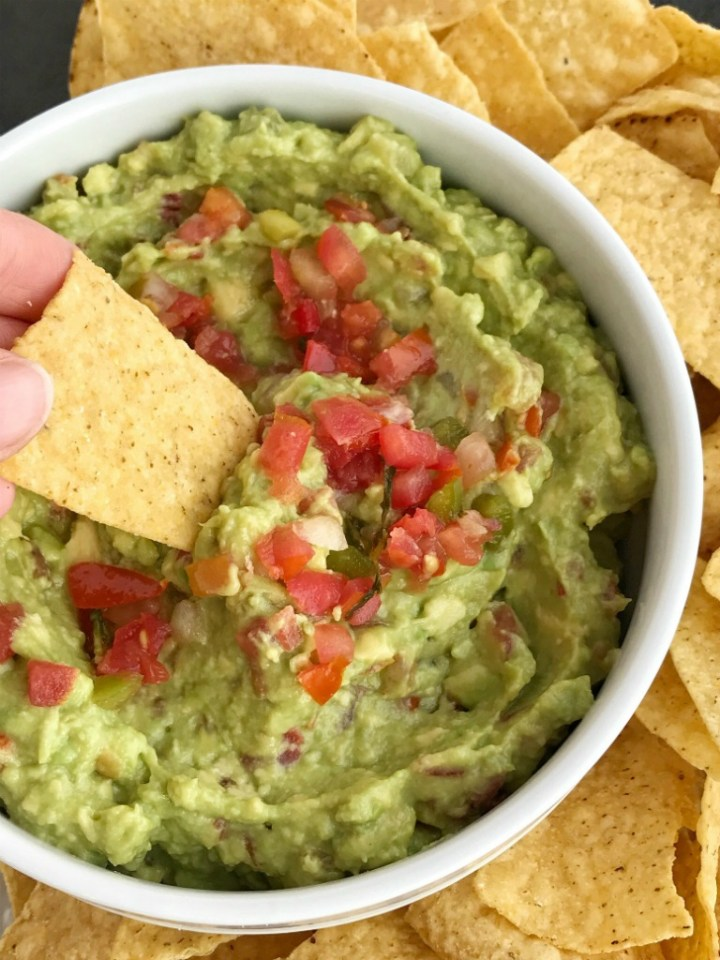 Pico de Gallo Guacamole   Avocados   Guacamole Recipe  Easy pico de gallo is the best, and easiest way to make guacamole! 3 ingredients is all you need; avocados, lime juice, and prepared pico de gallo. Mix together for a delicious topping to tacos, nachos, or dip taquitos or quesadillas into it.