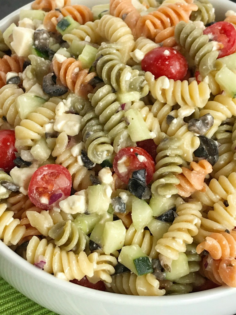 Italian pasta salad together as family - Where can i buy olive garden salad dressing ...