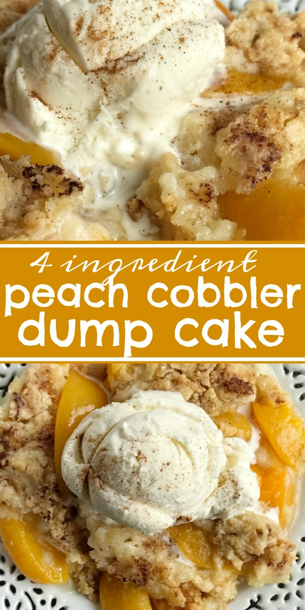 Peach Cobbler Dump Cake - Together as Family