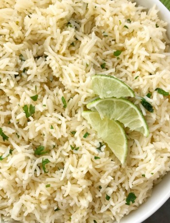 Instant Pot Cilantro Lime Rice | Cilantro Lime Rice Recipe | Side Dish | Instant Pot cilantro lime rice is so fluffy & full of lime and cilantro flavor, and is quick & easy Instant Pot recipe. Just a few simple ingredients and you have the perfect side dish to any meal. #mexicanfood #sidedishrecipes #sidedish #rice #glutenfreerecipes #glutenfree #recipeoftheday #easyrecipe