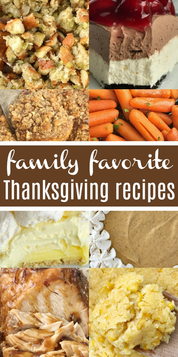 Thanksgiving Recipes | The best collection of family favorite Thanksgiving recipes all in one place! From no bake pies, side dishes, sweet potatoes, turkey, to salads. You will find it all here. I hope you find some family favorites from this collection of tried & true Thanksgiving recipes from my kitchen to yours. #thanksgiving #thanksgivingrecipe #holidayrecipes #recipeoftheday