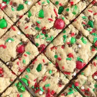 Santa's Peanut Butter Cookie Bars